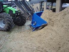 ØRUM Sandskovl fyldes let med sand